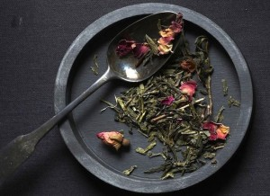 Bellocq No. 20 Kikuya. Japanese Sencha with rose.
