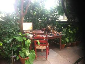 My dream work spot. Frida Kahlo's desk from Casa Azul, New York Botanical Garden, July 2015